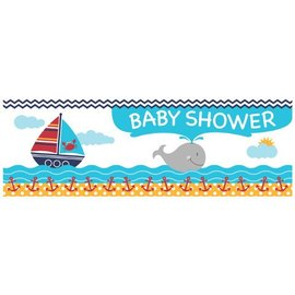 Party Banner-Plastic-Ahoy Matey Baby Shower-1pkg
