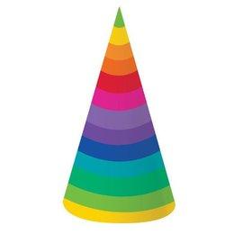 Hats-Cone-Rainbow-8pkg-Paper