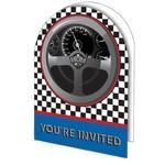 Invitations-Racing Fanatic-8pkg