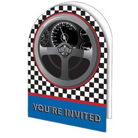 Invitations-Racing Fanatic-8pkg