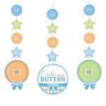 "Hanging Cutouts-Cute as a Button Boy-3pkg-36"""