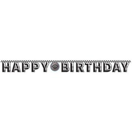Jointed Banner-Foil-Racing Fanatic Birthday-1pkg-7.25ft