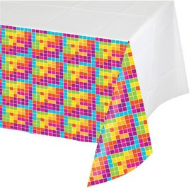 Tablecover-Rectangle-Get Nerdy-54''x102''-Plastic - Discontinued