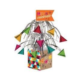 "Centerpiece-Foil Cascade-Birthday Kraft-1pkg-12"""