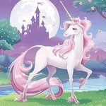 Beverage Napkins - Unicorn Fantasy
