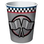 Paper Cups-Racing Fanatic-8pkg-9oz - Discontinued