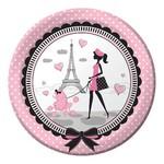"""Lunch Paper Plates- Paris- 8pk/9""""- Discontinued"""
