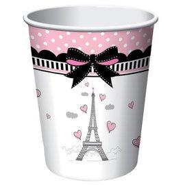 Paper Cups-Party in Paris-8pkg-9oz- Discontinued