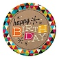 Plates-LN-Birthday Kraft-8pkg-Paper - Discontinued
