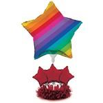 """Centerpiece Kit-Balloon-Rainbow-1pkg-24"""""""