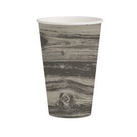 Paper Cups-Ole Fogey Woodgrain-8pkg-12oz - Discontinued
