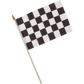 Flag-Race Car-8''x12''