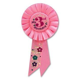 "Award Ribbon-My 3rd Birthday-1pkg-6.5"""