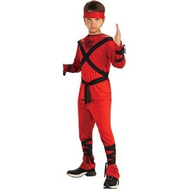 Costume-Red Ninja-Kids Small