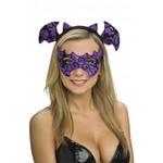 Costume Accessory-Purple Eyemask and Headpiece-1pkg