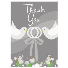 "Thank You Cards- Two Love Birds- 8pcs (5.5""x4"")"