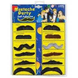 Costume Accessory-Moustache-Self Adhesive-12pkg