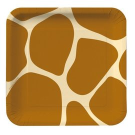 Plates-BEV-Animal Print-8pk-Paper (Discontinued)