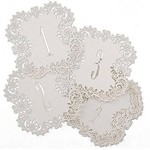 """Laser Cut Table Number Cards- White #1-10- 10pk (5.5""""x5.5"""")"""