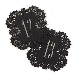 "Laser Cut Table Number Cards- Black #11-20- 10pk (5.5""x5.5"")"
