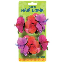 Haur comb-Flowers/Multi Colour-Summer-2pk