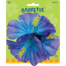 Hair clip-Flower/Blue-4''