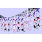 Ceiling Decor-Halloween-Spider Frenzy-12' x 12'