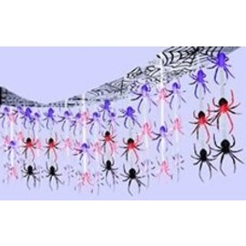 Ceiling Decor-Halloween-Spider Frenzy-12' x 12'