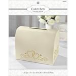 Card Holder Box-Gold-w/Gold Hearts-12'' x 15'' x 10''
