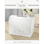 Card Holder Box-Silver& White-Paper w/Glitter-12'' x 15'' x 10''