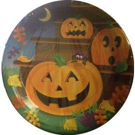 "Beverage Paper Plates- Pumpkin Steps- 8pk/7"""