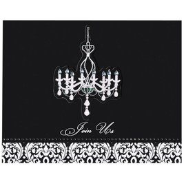 invitations-Elegant Chandelier Large Novelty-8pk