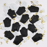 Confetti-Embossed Skull and Tombstone-1pkg-14g