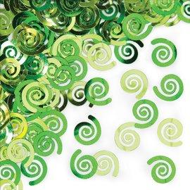 Confetti-Metallic Green Swirls-14g