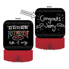 Centerpiece-Honeycomb-Happy Retirement Chalk-1pkg-11.5""