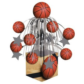 Centerpiece-Foil Cascade-Basketball Fanatic-1pkg-19.25""