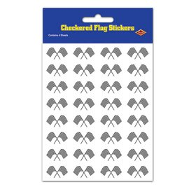 Stickers-Race Car Flags-4 Sheets