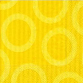 Napkins-LN-Circle Yellow-20pkg-3ply (Discontinued)
