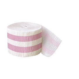 Streamer-Lovely Pink Stripe-30Ft-Paper