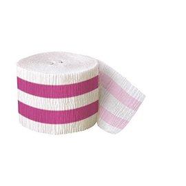 Streamer-Hot Pink Stripe-30Ft-paper