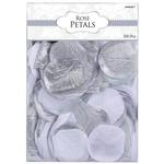 Fabric Confetti-Rose Petals-Silver-300pk