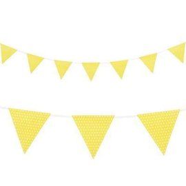 Flag Banner - Yellow and White Dots