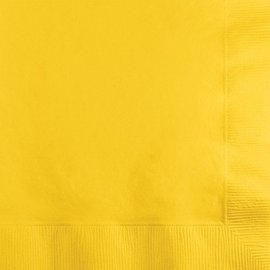 Napkins-BEV-School Bus Yellow-50pkg-2ply