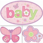 Cutouts-Carter's Baby Girl-3pk