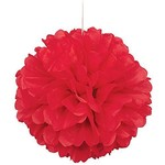 Puff Ball-Red-Paper-16''