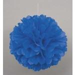 Puff Ball-Royal Blue-Paper-16''
