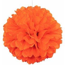 Puff Ball- Orange-Paper-16''