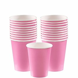 Cups-New Pink-20pkg/9oz-Paper