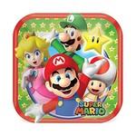Plates-BEV-Square-Super Mario-8pk-Paper