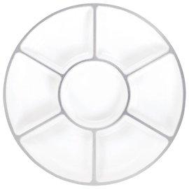 Trays-Compartment-White-16''-Plastic